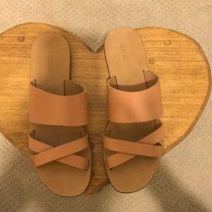 J.Crew Italian leather sandals